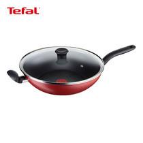 Tefal กระทะก้นลึก พร้อมฝาแก้ว 32 cm. Pure Chef Wok Pan รุ่น C6179614