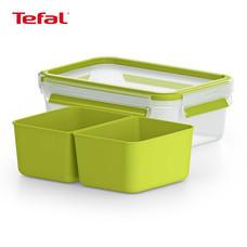TEFAL กล่องถนอมอาหาร MasterSeal TO GO ความจุ 0.55 ลิตร - สีเขียว