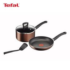 Tefal ชุดหม้อและกระทะเคลือบกันติด Super Cook Plus (G103S414)