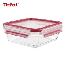 TEFAL กล่องถนอมอาหาร MasterSeal GLASS ความจุ 0.9 ลิตร - สีแดง
