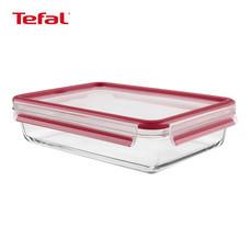 TEFAL กล่องถนอมอาหาร MasterSeal GLASS ความจุ 1.3 ลิตร - สีแดง
