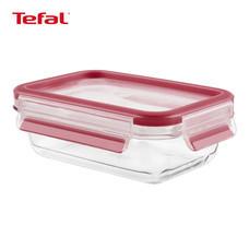 TEFAL กล่องถนอมอาหาร MasterSeal GLASS ความจุ 0.5 ลิตร - สีแดง