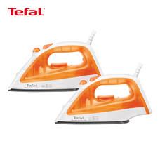 Tefal Wonderful Ironing Set (เตารีดไอน้ำ 1200 วัตต์ Steam Essential รุ่น FV1022 สีส้ม - แพ็กคู่)