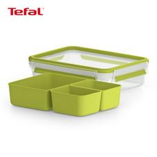 TEFAL กล่องถนอมอาหาร MasterSeal TO GO ความจุ 1.2 ลิตร - สีเขียว