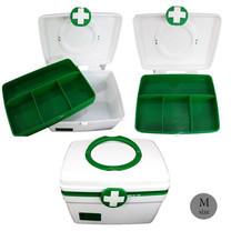Abloom กล่องยา ปฐมพยาบาล 2 ชั้น 2-Layer First Aid Kit Box Medicine Storage สีเขียว/ขาว ไซส์ M