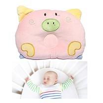 Abloom หมอนนอนเด็ก หมอน หัวทุย Baby Pillow Prevent Flat Head ดีไซน์ หมู( สีชมพู )