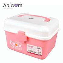Abloom กล่องยา ปฐมพยาบาล กล่องอเนกประสงค์ First Aid Kit Box Medicine Storage (สีชมพู)