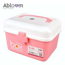 Abloom กล่องยา First Aid Kit Box Medicine Storage - สีชมพู
