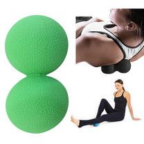 ลูกบอลนวด คลายกล้ามเนื้อ ทรงถั่ว (สีเขียว) Peanut TPE Massage Ball