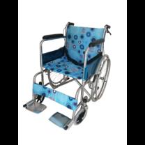 Wheelchair รถเข็น ผู้ป่วย เหล็กชุบ พับได้ รุ่นมาตรฐาน พร้อมเบรคมือ