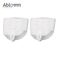 Abloom ซิลิโคนปรับนิ้วเท้า (แก้นิ้วเท้าโก่ง) 1 คู่ NO.2 - สีขาว