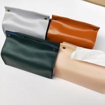 Orzer กล่องทิชชู่ หนัง PU สไตล์ สแกนดิเนเวียน กันฝุ่น Tissue Box PU material Nordic Style - มีสีให้เลือก
