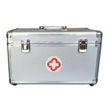 กล่องปฐมพยาบาล กล่องยา Aluminum Portable First Aid Kit Storage Box with Shoulder ( ไซส์ L )