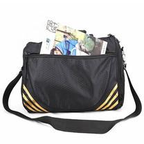 กระเป๋ากีฬา ฟิตเนส สะพายข้าง Gym Sports Bag - Unisex (สีดำ/ทอง)
