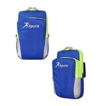 กระเป๋าคาดแขน ออกกำลังกาย Arm Bag Running Bag (สีน้ำเงิน)