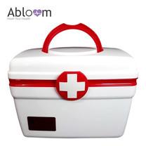 Abloom กล่องยาปฐมพยาบาล 2 ชั้น (Size M) - สีขาว/แดง