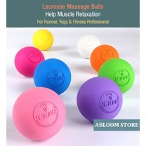 ลูกบอลนวด คลายกล้ามเนื้อ Lacrosse Rubber Massage Ball (มีสีให้เลือก)