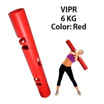 Abloom ViPR ไวเปอร์ อุปกรณ์ออกกำลังกายทรงกระบอก กระบอกน้ำหนัก Fitness Tube Viper( สีเเดง)