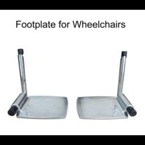 Abloom อะไหล่ที่วางเท้า พร้อมแกนล็อค สำหรับรถเข็น 1 คู่ (อลูมิเนียม) Aluminum Footplate for Wheelchair 1 Pair