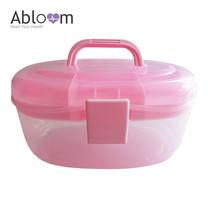 Abloom กล่องอเนกประสงค์ 2 ชั้น จัดเก็บอุปกรณ์ - สีชมพู