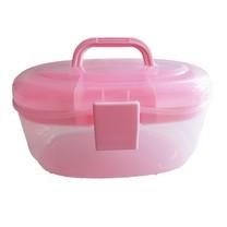 กล่องอเนกประสงค์ 2 ชั้น จัดเก็บอุปกรณ์ Multipurpose Storage Box ( สีชมพู)