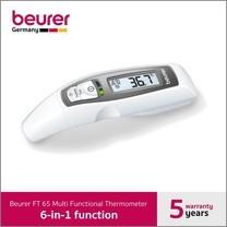 Beurer ปรอทวัดไข้ รุ่น FT65 แบบ 6 in 1 วัดไข้หน้าผาก ทางหู และวัดอุณหภูมิพื้นผิวได้ (รับประกัน 5 ปี)
