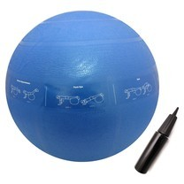ลูกบอลโยคะ 50 cm พิมพ์ลายท่าออกกำลังกาย ( สีน้ำเงิน )