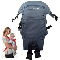 a*bloom เป้อุ้มเด็ก พับเก็บได้ Foldable Baby Carrier สีน้ำเงิน