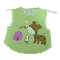 กันเปื้อนสำหรับเด็ก กันน้ำ ลายการ์ตูน Baby Bib (สีเขียว)