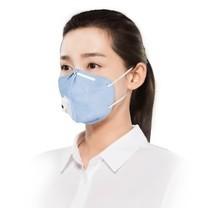 3M หน้ากาก N95 ป้องกัน ฝุ่นละออง PM 2.5 พับได้มีวาล์ว รุ่น 9501C สีฟ้า
