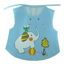 กันเปื้อนสำหรับเด็ก กันน้ำ ลายการ์ตูน Baby Bib (สีฟ้า)