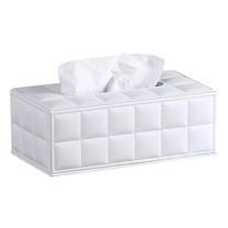 กล่องทิชชู่ หนังเทียม ดีไซน์ทันสมัย Stylish Tissue Box (แบบนุ่มสีขาว)