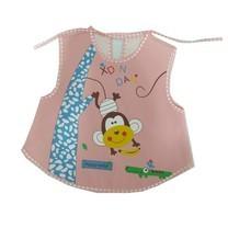 กันเปื้อนสำหรับเด็ก กันน้ำ ลายการ์ตูน Baby Bib (สีชมพู)