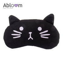 Alboom ผ้าปิดตา พร้อมเจล รุ่น Little Cat - สีดำ