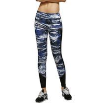 กางเกงออกกำลังกาย ขายาว Marble Design (สีน้ำเงิน)