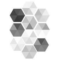 สติ๊กเกอร์ติดผนัง สำหรับตกแต่ง เซ็ต 10 ชิ้น Hexagonal Sticker for Decoration Set of 10 Pieces