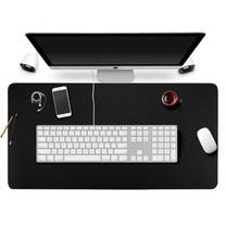 แผ่นรองคอมพิวเตอร์ หนังเทียม พีวีซี Office Desk Mat , Large Mouse Pad (สีดำ)