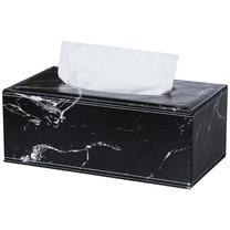 Orzer กล่องทิชชู่ ลายหินอ่อน ของแต่งบ้าน Tissue Box Luxury Marble Collection สีดำ