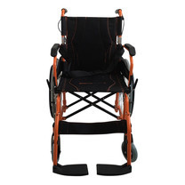 รถเข็นผู้ป่วย อลูมิเนียมอัลลอยด์ พับพนักพิงหลังได้ ยกที่วางแขนได้ (ล้อ22นิ้ว) Deluxe Lightweight Foldable Aluminum Wheelchair