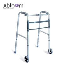 Abloom ที่หัดเดิน แบบมีล้อ Aluminum Foldable Walker with Wheels (พับได้) - Grey
