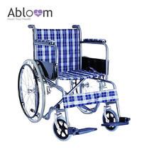 Abloom รถเข็นผู้ป่วย เหล็กชุบ (พับได้) รุ่น มาตรฐาน - ลายผ้าสก๊อต