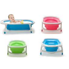 อ่างอาบน้ำเด็ก แบบพับได้ ( มีสีให้เลือก )Baby Folding Bath Tub