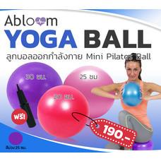 Abloom ลูกบอลออกกำลังกาย ขนาดเล็ก ลูกบอลโยคะ พิลาทิส Exercise Balls Pilates Ball, Yoga Ball 25 cm ( สีม่วง )