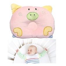 หมอนนอนเด็ก หมอน หัวทุย Baby Pillow Prevent Flat Head ดีไซน์ หมู ( สีชมพู )