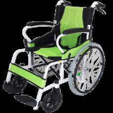 รถเข็นผู้ป่วย น้ำหนักเบา พับพนักพิงหลังได้ ล้อใหญ่ Deluxe Lightweight Foldable Steel Wheelchair