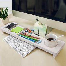 อุปกรณ์จัดเก็บบนโต๊ะ สำหรับ คอมพิวเตอร์ Desk Keyboard Organizer (สีขาว)
