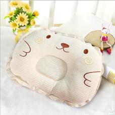 หมอนนอนเด็ก หมอน หัวทุย Baby Pillow Prevent Flat Head ดีไซน์ หมี (สีเบจ)