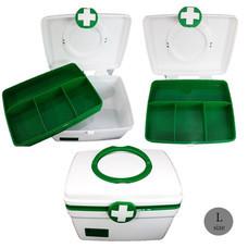 Abloom กล่องยา ปฐมพยาบาล 2 ชั้น 2-Layer First Aid Kit Box Medicine Storage สีเขียว/ขาว ไซส์ L