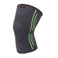 สำหรับผู้ที่ปวดเข่าอุปกรณ์พยุงเข่า Knee Support (สีดำ/แถบสีเขียวอ่อน)
