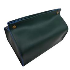 Orzer กล่องทิชชู่ หนัง PU สไตล์ สแกนดิเนเวียน กันฝุ่น ( สีดำ) Tissue Box PU material Nordic Style